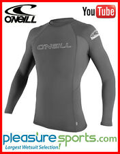 O'Neill Skins Long Sleeve Rashguard 50+ UV Protection Charcoal Grey