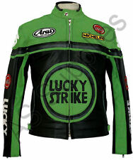 LUCKY STRIKE New Black/Green Leather Jacket -All sizes!