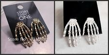 Ladies Girls Skeleton Skull Bone Hand Gothic Hippie Rock Emo Party Earring