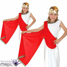 GIRLS CHILDS GREEK GODDESS ROMAN TOGA FANCY DRESS EGYPTIAN COSTUME BOOK DAY AGE