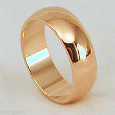 18kt Yellow Gold Plated 6mm Wide Wedding Band Ring