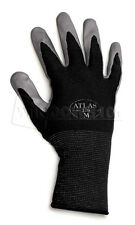12 Pairs Black Atlas Showa 370 Nitrile Gloves Garden Auto Work Paint Landscaping