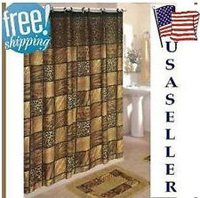 NIP NEW 15-PC BATH BATHROOM MAT RUG SHOWER CURTAIN & HOOK ACCESSORY SET CHOICES