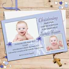 Personalised Christening Baptism Holy Communion PHOTO Invitations ~ N67