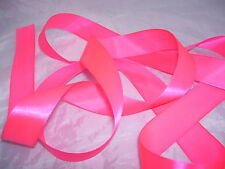 Neon Shocking Pink Satin Ribbon 3mm 6mm 10mm 19mm 25mm 38mm 50mm 100mm Wedding e