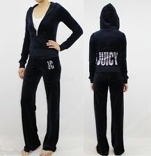 NWT JUICY COUTURE Encrusted Gems Bling Velour Hoodie Jacket Pants Tracksuits
