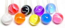 14g CUSTOM MARBLE A Steel Belly Button Ring - Choose color & length