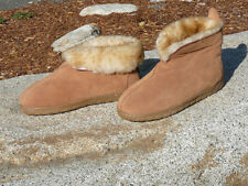Womens Ladies Genuine Australian Wool/Suede Shearling Sheepskin Slippers