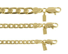 New 18 KT Gold Overlay Cuban, Curb Chain Necklace/Bracelet - LIFETIME WARRANTY