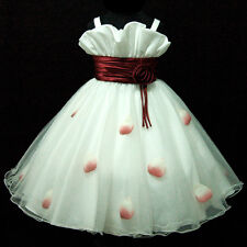 NWT R818 Toddler Girl Reds Christening Christmas Girls Dress SZ 2-3-4-5-6-7-8-9T