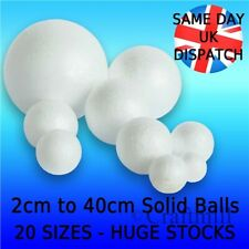 Solid Polystyrene Balls Craft Floral Cake Sweet Tree Decoration 20mm to 400mm