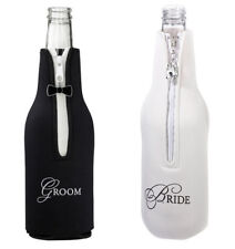 White Bride or Black Groom Champagne or wine Bottle Cover Wedding Supplies