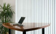 White or cream made to measure vertical blinds any size up to 6' wide.