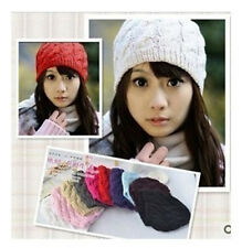 HOT! WOMEN'S KNIT CROCHET WINTER BEANIE HAT CAP 9 COLORS Free Shipping MK01