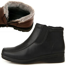 New Dress Casual Comfort Winter Snow Warm Womens Ankle Boots Shoes