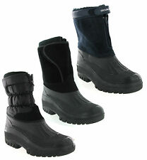 New Mens Winter Warm Lined Snow Ski Style Moon Mucker Wellington Boots Size 7-11
