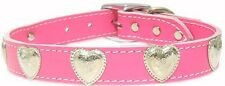Dog Pet Puppy Western Heart Leather Collar 6 Colors