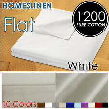 Comfortable Egyptian Cotton King/Queen Size Bed 1200+ Flat Top Sheet