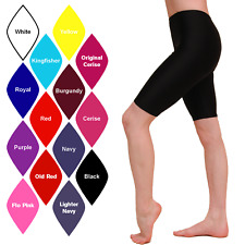NEW UNISEX GIRLS BOYS LADIES MENS LYCRA CYCLE SHORTS BALLET/DANCE/FITNESS/GYM