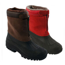 MENS LADIES SNOW BOOTS WATERPROOF THERMAL WELLINGTONS WINTER FUR SKI WELLIES DD2