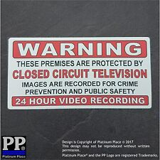 CCTV Security Camera Warning Adhesive Stickers-Protected 24 Hour Video Recording