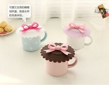 1PC Lovely Bowknot Silica Gel Leakage-proof Cup Dust Cover