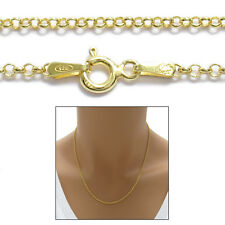 14K Gold over Sterling Silver Rolo Chain Necklace 2mm 030 gauge