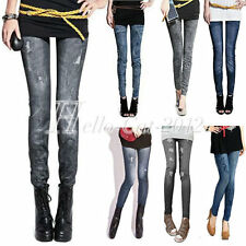 Sexy Lady Girl Women Denim Jeans Look Tights Pants Thin Thick Wholesale
