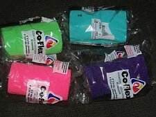 """VET Co-Flex Horse WRAP 4""""x5 yards Lime Green Turquoise Pink Purple Neon 6 Pack"""