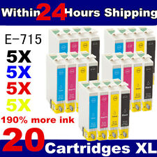 20 Non-OEM T0711 T0712 T0713 T0714 T0715 Cheap Ink Cartridges for Epson Printers