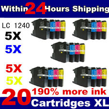 20 ink cartridges LC1240 LC11280 Compatible for Brother DCP & MFC Printers