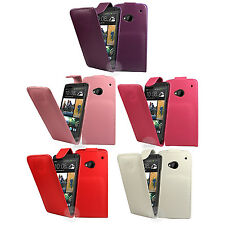 FLIP PU LEATHER CASE COVER FOR THE HTC ONE (M7) !!