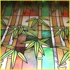 #006 Decorative frosted opaque Privacy adhesives  Window Film Treatment bamboo