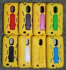 Samsung Epic 4G Touch D710 SPH-D710 ARMOR Phone Cover Case With KICK Stand YELO