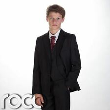 Boys suit, Boys black suit, Page boy outfit, Boys tuxedo, Boys wedding suit, 5pc