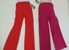 NWT Red Bootcut midrise Matte Spandex Jazz Pants Ch/Ladies Wolff Fording