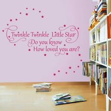 Twinkle Twinkle Little Star 2 - Nursery Wall Quote Decal Sticker
