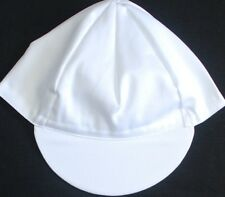 BLANK WHITE CYCLING CAP NEW BIKE RIDE HAT SOLID OR 3 RIBBON CHOICES !!***