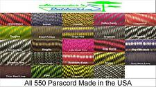 550 Paracord Mil Spec Type III 7 Strand Parachute Cord Two Tone Colors