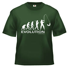 Funny Fishing Evolution of man T Shirt 100% cotton all sizes and colours