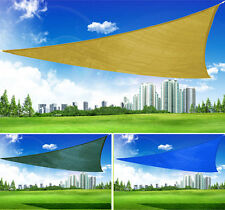 New Triangle Sun Shade Sail Canopy Outdoor Patio Multi-Color/Size