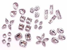 Acrylic Sew on Faceted Crystals, Rhinestones, Diamantes, Dress Making, Montees