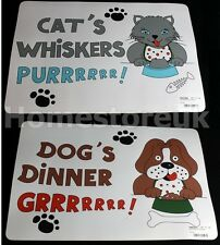 PVC PET PLACEMAT FOR CAT / DOG DINNER BOWL FOOD FEEDING MAT FLOOR PROTECTOR
