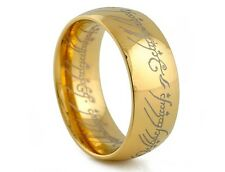 SIZE 7-13 NICE LOTR Mens Titanium Band Wedding Ring Width 8mm Free Shipping HOT