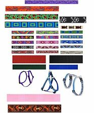 "Lupine 1/2""W dog harness H-style, Step-in or Roman 22 patterns lifetime warranty"