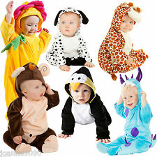 DELUXE BOYS GIRLS BABY GROW TODDLER CUTE ANIMAL FANCY DRESS HALLOWEEN COSTUME