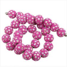 10/50pcs New Clear Dots Rhinestones Balls Faux Indonesia Charms European  Beads