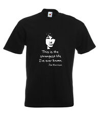 Jim Morrison The Doors Tee Shirt Quote:This Is The Strangest Life Ive Ever Known