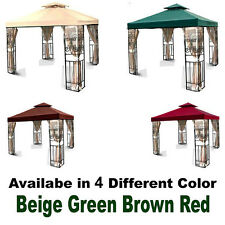 New MTN 12'x12' Gazebo Canopy 2 Tier Top Cover Replacement Outdoor Backyard