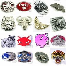 UA02 ANIMAL Steel Belt Buckle Hawk/Bull/Dog/Pig/Snake/Eagle/Horse Rock Men/Women